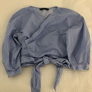 Zara Cotton Wrap Top